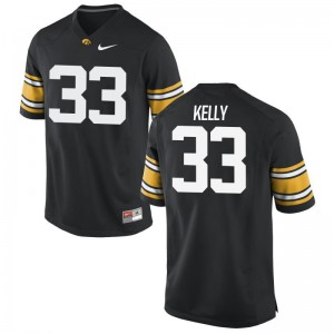 Austin Kelly Jersey S-3XL Mens University of Iowa Limited Black