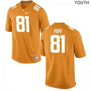 Tennessee Vols Limited Austin Pope For Kids Orange Jerseys Medium