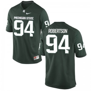 Auston Robertson MSU Jerseys Large Limited Kids Green