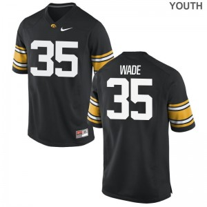 Barrington Wade Hawkeyes Jerseys Youth Medium Limited Black For Kids