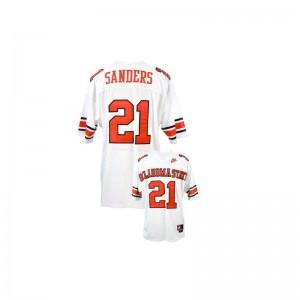 OSU Cowboys Barry Sanders Men Limited College Jerseys White