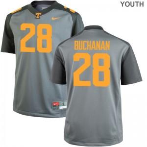 Baylen Buchanan Tennessee Jersey Small Gray Limited Kids