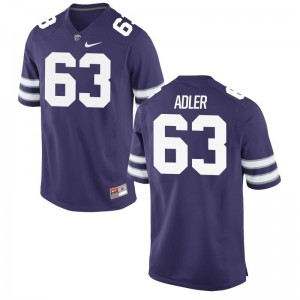 Ben Adler Men Kansas State Jerseys Purple Limited Jerseys