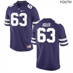 Ben Adler KSU Jersey Small Limited Purple Youth