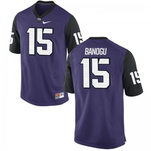 Texas Christian Ben Banogu Jersey Mens Medium Purple Black Limited Men