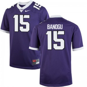 Limited Mens TCU Horned Frogs Jerseys Mens XL Ben Banogu - Purple