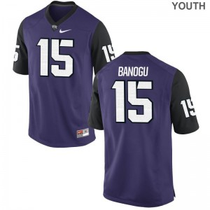 Purple Black Ben Banogu Jersey Youth XL TCU For Kids Limited
