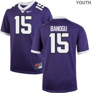 Ben Banogu Jersey S-XL For Kids Horned Frogs Purple Limited