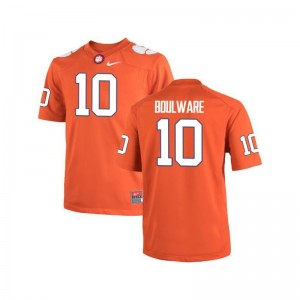 Ben Boulware Limited Jersey For Kids NCAA Clemson Tigers Orange Jersey