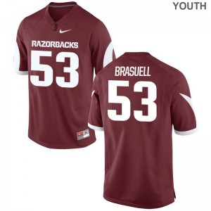 Ben Brasuell Limited Jerseys For Kids Stitched Razorbacks Cardinal Jerseys