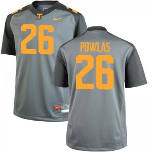 For Kids Ben Powlas Jersey Gray Limited Tennessee Vols Jersey