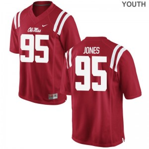 Benito Jones Ole Miss Jerseys Medium Limited Red Kids