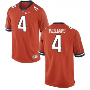 Bennett Williams Jersey Mens Fighting Illini Limited - Orange