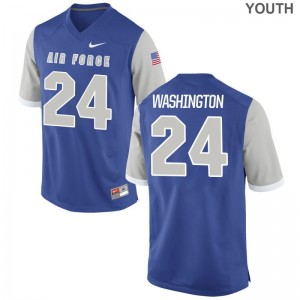 Youth(Kids) Benton Washington Jerseys Stitch Royal Limited Air Force Falcons Jerseys