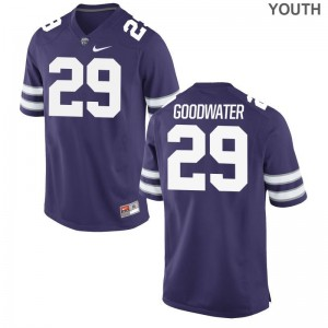Kansas State Limited Youth(Kids) Purple Bernard Goodwater Jerseys Youth XL