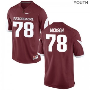 University of Arkansas Bijhon Jackson Jersey Medium For Kids Cardinal Limited