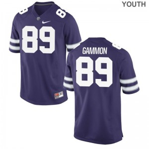 Kansas State University Blaise Gammon Jersey Youth X Large For Kids Limited Purple