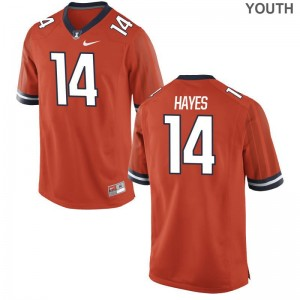 Youth(Kids) Blake Hayes Jerseys Orange Limited Illinois Jerseys
