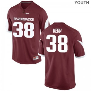 Arkansas Razorbacks Blake Kern Jersey Large Limited Kids Cardinal