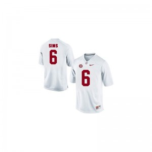 Men Blake Sims Jersey University of Alabama Limited White