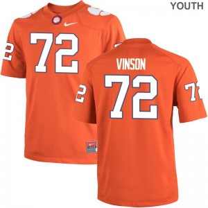 Blake Vinson Youth(Kids) Jersey X Large Clemson University Orange Limited