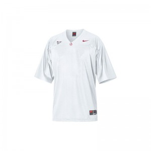 Blank Bama Jerseys Small Limited White For Men