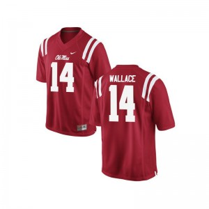 Bo Wallace Mens Ole Miss Jersey Red Limited University Jersey