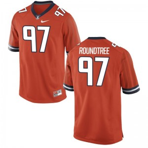 Orange Bobby Roundtree Jersey Fighting Illini Limited For Men