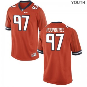 Illinois Youth(Kids) Orange Limited Bobby Roundtree Jerseys Youth XL