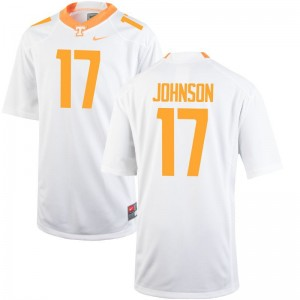 Vols Brandon Johnson Limited Youth(Kids) Jerseys - White