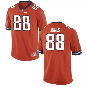 Fighting Illini Brandon Jones Jersey Men XL Limited Orange Men