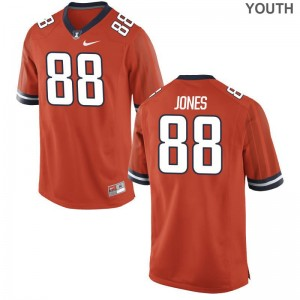 University of Illinois Orange Kids Limited Brandon Jones Jerseys Youth Large