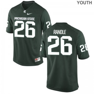 Spartans Kids Green Limited Brandon Randle Jerseys Youth XL
