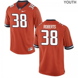 Brandon Roberts Youth(Kids) Orange Jerseys XL Illinois Fighting Illini Limited