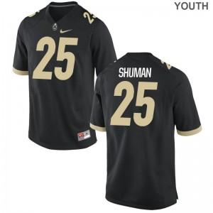Purdue Brandon Shuman Limited Kids Jerseys S-XL - Black