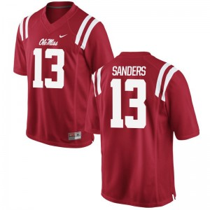 Ole Miss Braylon Sanders Jersey Red Limited Mens