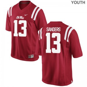 Ole Miss Rebels Braylon Sanders Youth Limited Embroidery Jerseys Red