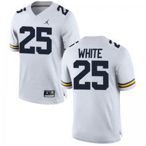 Limited Brendan White Jerseys Men XXL University of Michigan Men Jordan White