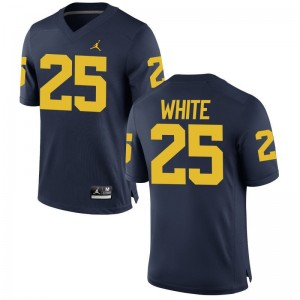 Brendan White Youth(Kids) Jerseys Youth Large Limited Wolverines - Jordan Navy