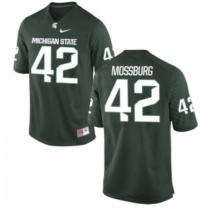 Michigan State Spartans Brent Mossburg Jerseys Small Mens Limited - Green