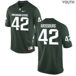 Michigan State Brent Mossburg For Kids Limited Stitch Jersey Green