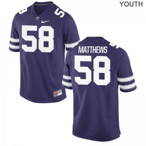 KSU Breontae Matthews Jerseys Medium For Kids Limited Purple
