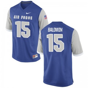 Brett Baldwin Air Force Falcons Men Limited Jersey Men XXXL - Royal