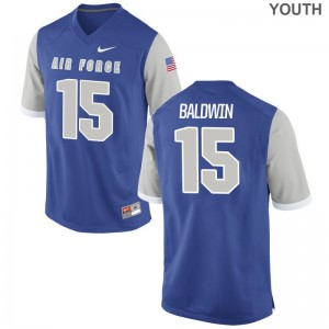 Brett Baldwin Air Force Falcons Jersey Youth Small Limited Royal Youth