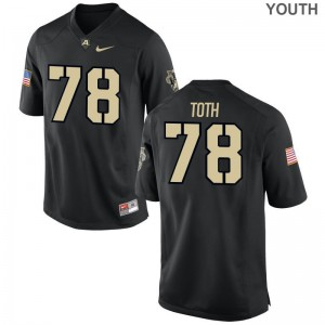 Brett Toth United States Military Academy For Kids Jersey Black Official Limited Jersey