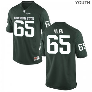 Brian Allen Youth(Kids) Jersey Youth Medium Spartans Limited - Green
