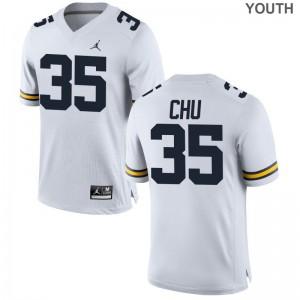 Michigan Wolverines Jersey Youth X Large Brian Chu Limited Youth(Kids) - Jordan White