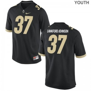 Limited Brian Lankford-Johnson Jerseys Youth Large Purdue Boilermakers Black Kids
