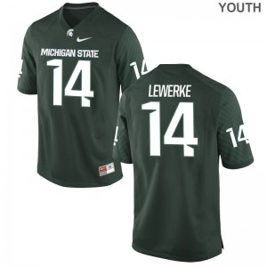 For Kids Limited Michigan State University Jersey Medium Brian Lewerke - Green
