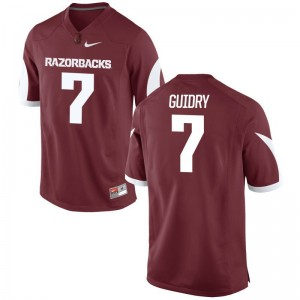 Limited Arkansas Razorbacks Briston Guidry Mens Cardinal Jerseys